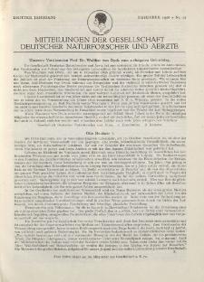 Mitteilungen der Gesellschaft Deutscher Naturforscher und Aerzte, 3. Jg. 1926, Dezember, Nr 12.