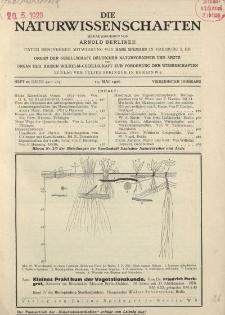 Die Naturwissenschaften. Wochenschrift..., 14. Jg. 1926, 14. Mai, Heft 20.
