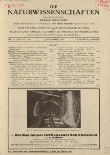 Die Naturwissenschaften. Wochenschrift..., 14. Jg. 1926, 5. November, Heft 45.