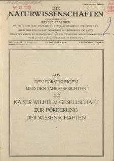 Die Naturwissenschaften. Wochenschrift..., 14. Jg. 1926, 10. Dezember, Heft 50/51.