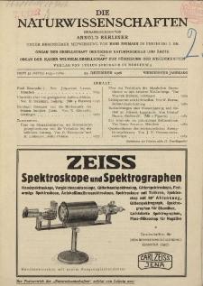 Die Naturwissenschaften. Wochenschrift..., 14. Jg. 1926, 24. Dezember, Heft 52.