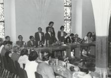 Uczestnicy XV Kongresu Światowej Organizacji Wychowania Przedszkolnego z Warszawy w Malborku [fotografia]