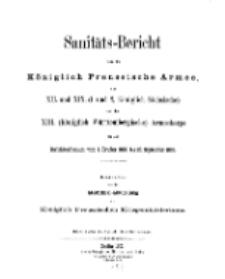 Sanitäts-Bericht über die Königlich Preussische Armee, 1898-1899