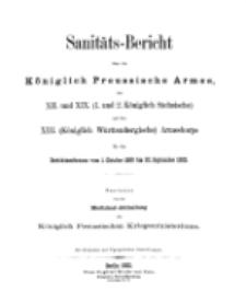 Sanitäts-Bericht über die Königlich Preussische Armee, 1899-1900