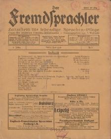 Der Fremdsprachler : Zeitschrift für lebendige Sprachen-Pflege Organ des Deutschen, 5. Jahrgang, Juni 1928, Nr 6.