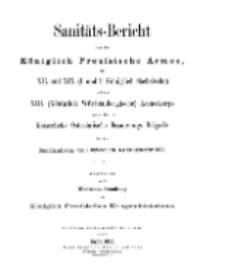 Sanitäts-Bericht über die Königlich Preussische Armee, 1902-1903