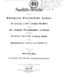 Sanitäts-Bericht über die Königlich Preussische Armee, 1903-1904