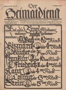 Der Heimatdienst : Mitteilungen der Reichszentrale für Heimatdienst, 7. Jahrgang, 2. Mailheft 1927, Nr 10.