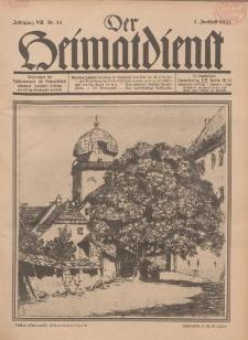 Der Heimatdienst : Mitteilungen der Reichszentrale für Heimatdienst, 7. Jahrgang, 1. Junilheft 1927, Nr 11.