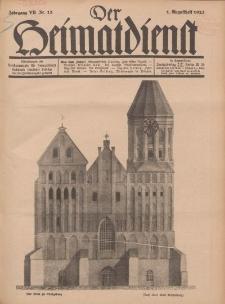 Der Heimatdienst : Mitteilungen der Reichszentrale für Heimatdienst, 7. Jahrgang, 1. Augustheft 1927, Nr 15.