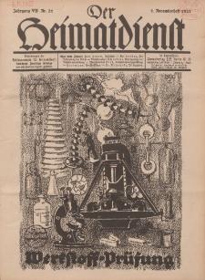 Der Heimatdienst : Mitteilungen der Reichszentrale für Heimatdienst, 7. Jahrgang, 1. Novemberheft 1927, Nr 21.