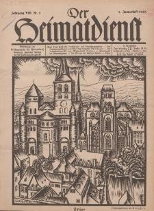 Der Heimatdienst : Mitteilungen der Reichszentrale für Heimatdienst, 8. Jahrgang, 1. Januarheft 1928, Nr 1.