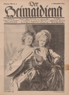 Der Heimatdienst : Mitteilungen der Reichszentrale für Heimatdienst, 8. Jahrgang, 1. Februarheft 1928, Nr 3.