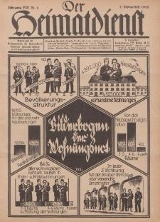 Der Heimatdienst : Mitteilungen der Reichszentrale für Heimatdienst, 8. Jahrgang, 2. Februarheft 1928, Nr 4.