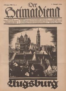 Der Heimatdienst : Mitteilungen der Reichszentrale für Heimatdienst, 8. Jahrgang, 2. Märzheft 1928, Nr 6.