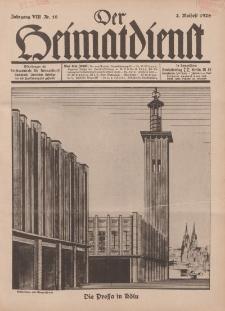 Der Heimatdienst : Mitteilungen der Reichszentrale für Heimatdienst, 8. Jahrgang, 2. Maiheft 1928, Nr 10.