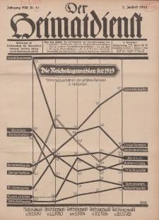Der Heimatdienst : Mitteilungen der Reichszentrale für Heimatdienst, 8. Jahrgang, 2. Juniheft 1928, Nr 12.