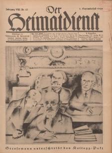Der Heimatdienst : Mitteilungen der Reichszentrale für Heimatdienst, 8. Jahrgang, 1. Septemberheft 1928, Nr 17.