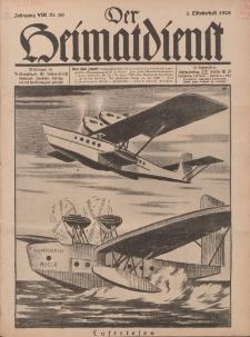 Der Heimatdienst : Mitteilungen der Reichszentrale für Heimatdienst, 8. Jahrgang, 2. Oktoberheft 1928, Nr 20.