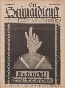Der Heimatdienst : Mitteilungen der Reichszentrale für Heimatdienst, 8. Jahrgang, 2. Novemberheft 1928, Nr 22.