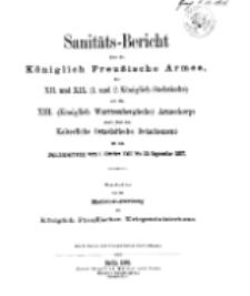 Sanitäts-Bericht über die Königlich Preussische Armee, 1906-1907