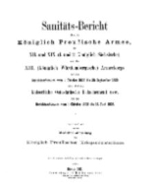 Sanitäts-Bericht über die Königlich Preussische Armee, 1908-1909