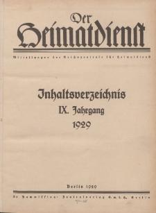 Der Heimatdienst : Mitteilungen der Reichszentrale für Heimatdienst (Titelbilder, Autoren...), 1929