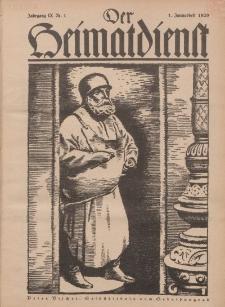 Der Heimatdienst : Mitteilungen der Reichszentrale für Heimatdienst, 9. Jahrgang, 1. Januarheft 1929, Nr 1.