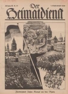 Der Heimatdienst : Mitteilungen der Reichszentrale für Heimatdienst, 9. Jahrgang, 2. Septemberheft 1929, Nr 18.