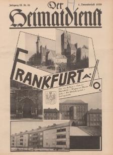 Der Heimatdienst : Mitteilungen der Reichszentrale für Heimatdienst, 9. Jahrgang, 1. Novemberheft 1929, Nr 21.
