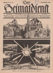 Der Heimatdienst : Mitteilungen der Reichszentrale für Heimatdienst, 9. Jahrgang, 1. Dezemberheft 1929, Nr 23.