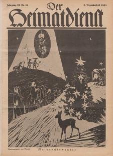Der Heimatdienst : Mitteilungen der Reichszentrale für Heimatdienst, 9. Jahrgang, 2. Dezemberheft 1929, Nr 24.