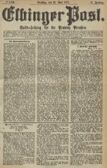 Elbinger Post, Nr. 142, Dienstag 22 Juni 1875, 2 Jh