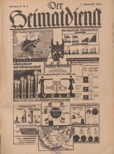 Der Heimatdienst : Mitteilungen der Reichszentrale für Heimatdienst, 10. Jahrgang, 2. Januarheft 1930, Nr 2.