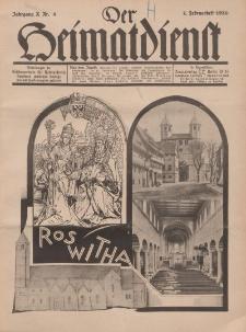 Der Heimatdienst : Mitteilungen der Reichszentrale für Heimatdienst, 10. Jahrgang, 2. Februarheft 1930, Nr 4.