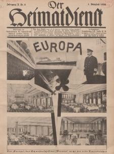 Der Heimatdienst : Mitteilungen der Reichszentrale für Heimatdienst, 10. Jahrgang, 1. Märzheft 1930, Nr 5.