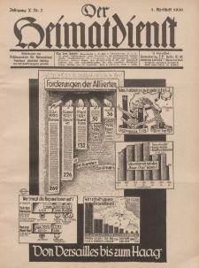 Der Heimatdienst : Mitteilungen der Reichszentrale für Heimatdienst, 10. Jahrgang, 1. Aprilheft 1930, Nr 7.