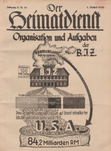 Der Heimatdienst : Mitteilungen der Reichszentrale für Heimatdienst, 10. Jahrgang, 2. Maiheft 1930, Nr 10.