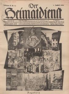 Der Heimatdienst : Mitteilungen der Reichszentrale für Heimatdienst, 10. Jahrgang, 1. Juniheft 1930, Nr 11.