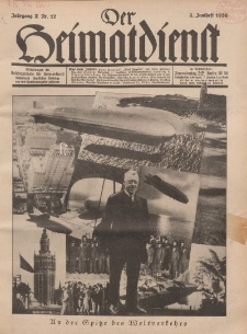 Der Heimatdienst : Mitteilungen der Reichszentrale für Heimatdienst, 10. Jahrgang, 2. Juniheft 1930, Nr 12.