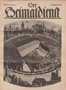 Der Heimatdienst : Mitteilungen der Reichszentrale für Heimatdienst, 10. Jahrgang, 1. Augustheft 1930, Nr 15.