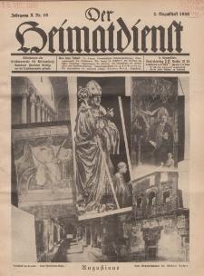 Der Heimatdienst : Mitteilungen der Reichszentrale für Heimatdienst, 10. Jahrgang, 2. Augustheft 1930, Nr 16.