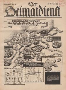 Der Heimatdienst : Mitteilungen der Reichszentrale für Heimatdienst, 10. Jahrgang, 1. Septemberheft 1930, Nr 17.