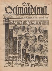 Der Heimatdienst : Mitteilungen der Reichszentrale für Heimatdienst, 10. Jahrgang, 2. Septemberheft 1930, Nr 18.