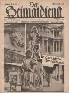Der Heimatdienst : Mitteilungen der Reichszentrale für Heimatdienst, 10. Jahrgang, 1. Oktoberheft 1930, Nr 19.