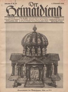 Der Heimatdienst : Mitteilungen der Reichszentrale für Heimatdienst, 10. Jahrgang, 2. Oktoberheft 1930, Nr 20.