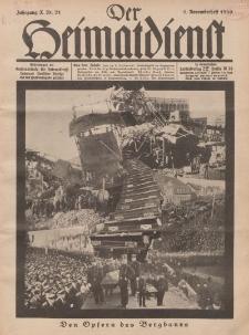 Der Heimatdienst : Mitteilungen der Reichszentrale für Heimatdienst, 10. Jahrgang, 1. Novemberheft 1930, Nr 21.