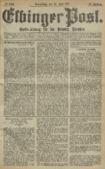 Elbinger Post, Nr. 144, Donnerstag 24 Juni 1875, 2 Jh