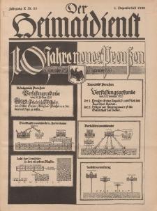 Der Heimatdienst : Mitteilungen der Reichszentrale für Heimatdienst, 10. Jahrgang, 1. Dezemberheft 1930, Nr 23.