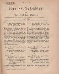 Bundes-Gesetzblatt des Norddeutschen Bundes, 1868, Nr 10.